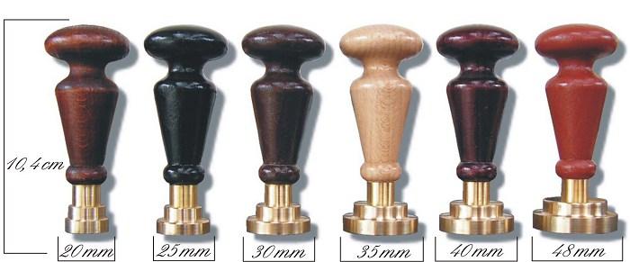 Siegelstempel 10,4 cm in 6 verschiedenen Farben