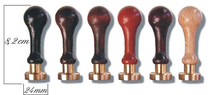 Siegelstempel 7,5 cm in 6 verschiedenen Farben