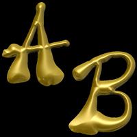 3D Siegel Schriftart Squiggle