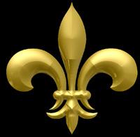 3D Siegel französische Lilie