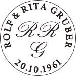 Siegel mit Rundgravur und Monogrammen