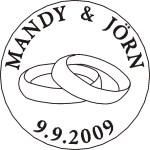Siegel mit Rundgravur und Symbol